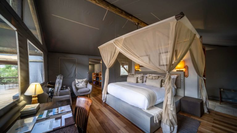 Visual of luxury guest suite interior at Seba Camp