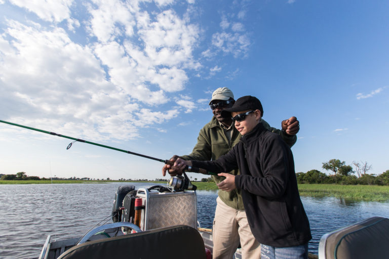 Seasonal fishing excursions can be arranged from Seba Camp