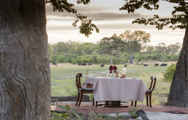 Private dinner for two with amazing views at Selinda Explorers