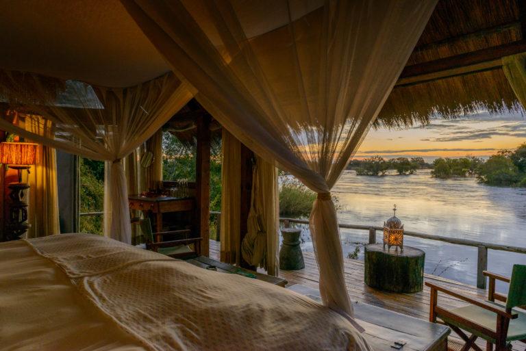 Secluded and romantic Sindabezi Island forms part of Tongabezi Lodge