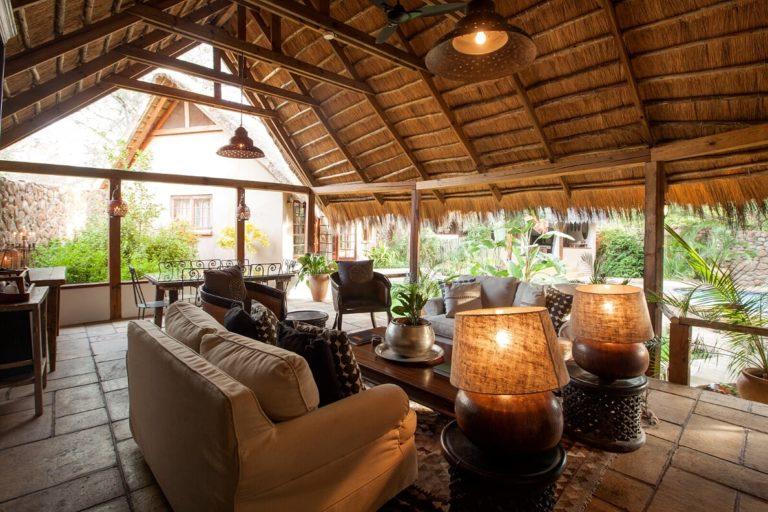 Garden Cottage lounge area at Tongabezi