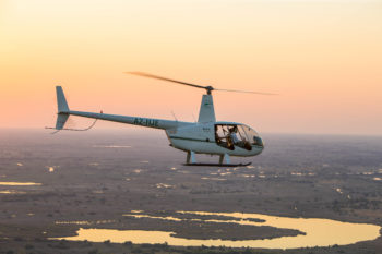 Responsible tourism in botswana is offered through special packages with helicopter rides