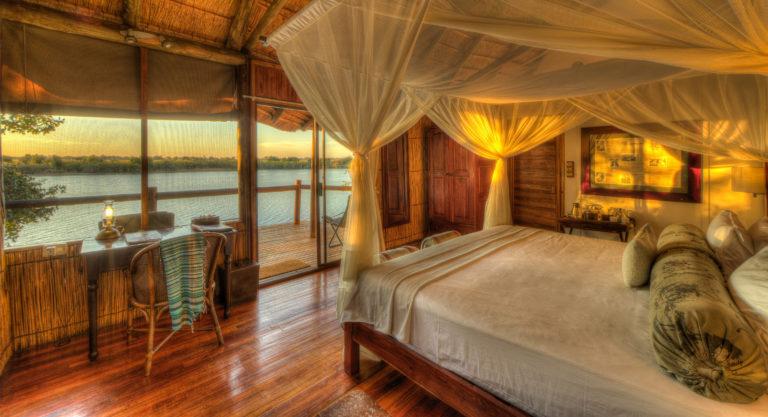 Xugana Island Lodge luxury guest room interior