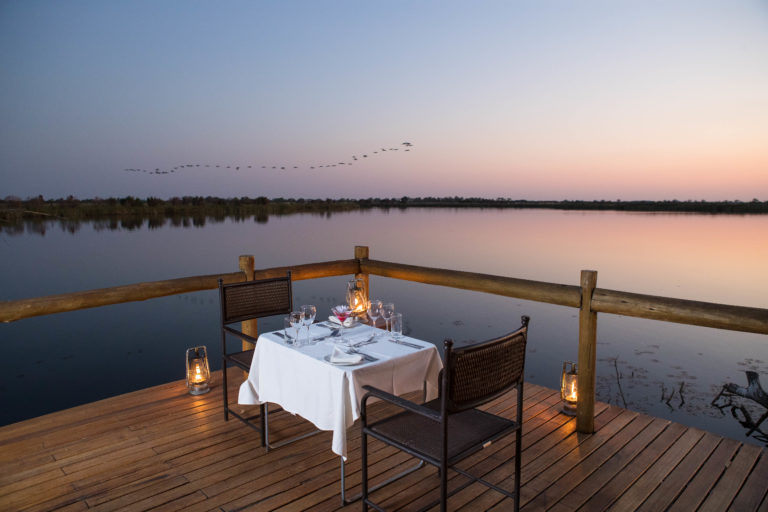 Romantic private dinner table arranged for Xugana guests