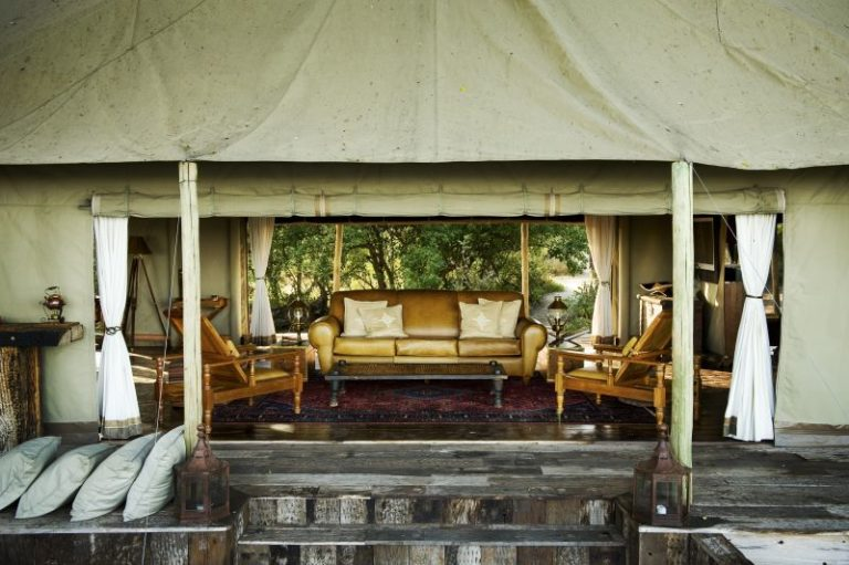 Zarafa guest tents boast large open spaces private deck and plunge pools