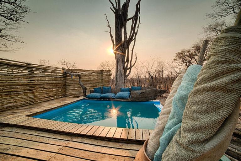 Splash pool and deck image at Hyena Camp