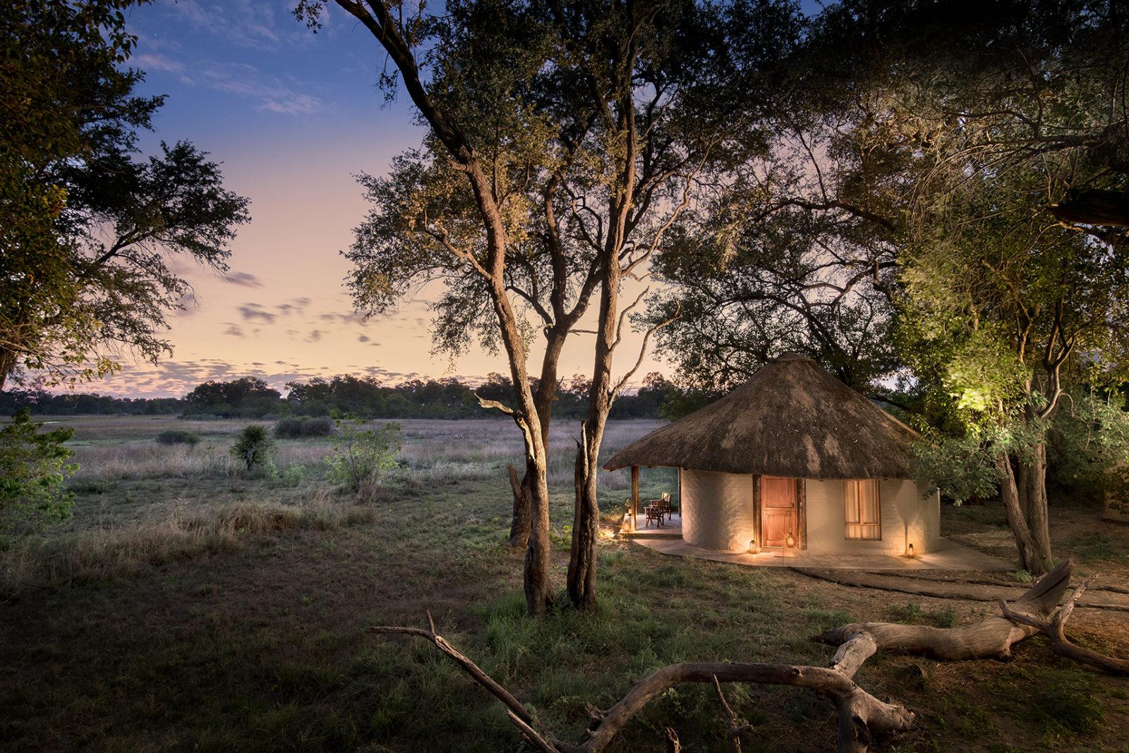 Khwai Bush Camps accommodation at dusk