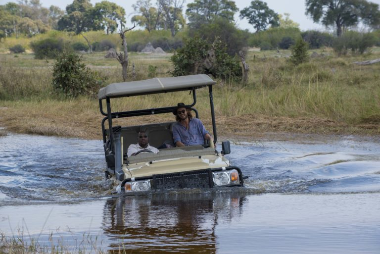 Adventurous game drives are offered by Khwai Bush Camp