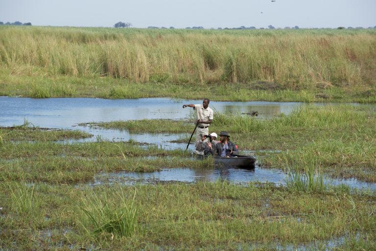 Idyllic journey by mokoro from Linyanti Ebony Camp