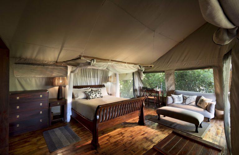 Linyanti Ebony guest tent interior