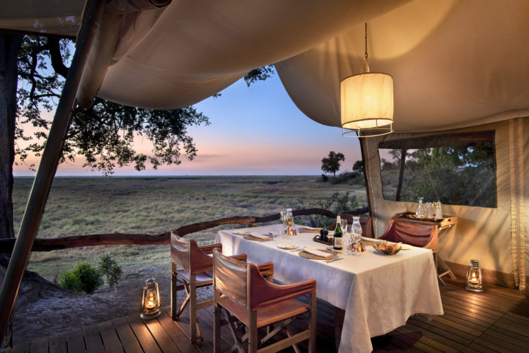 Linyanti Expeditions landscape dinner view