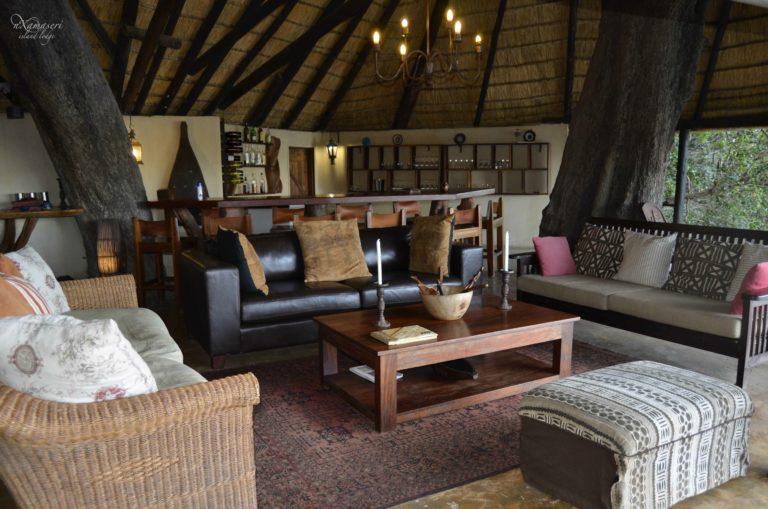 A look at Nxamaseri Island Lodge's lounge area