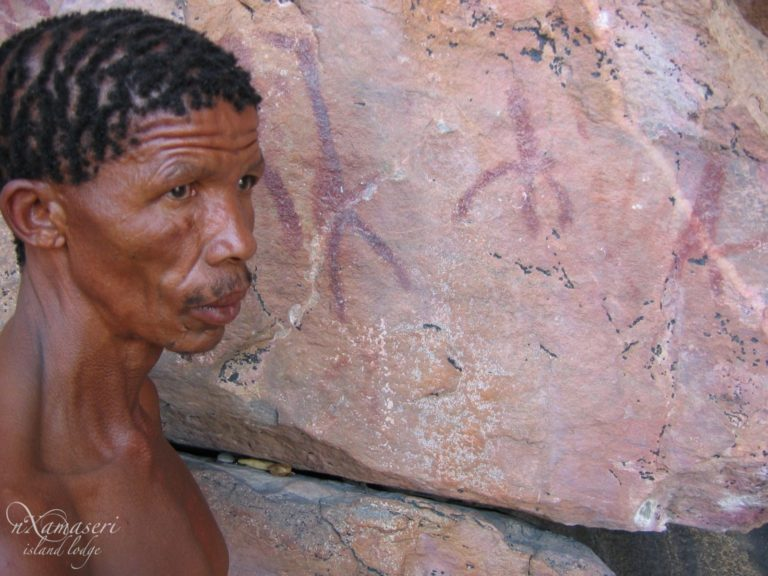 Nxamaseri offers a Tsodilo Hills bushman guided tour to view rock paintings