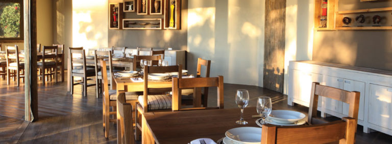 Dining at Shakawe is an indoor or an outdoor affair