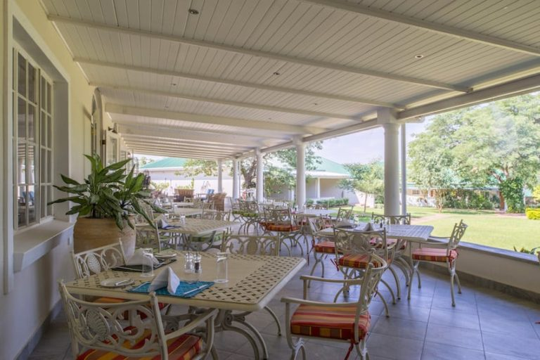 Early morning breakfast served outdoors on the terrace at Batonka