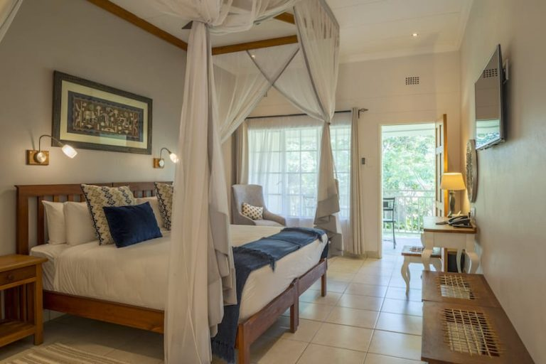Spacious interior of guest suite at Batonka Lodge