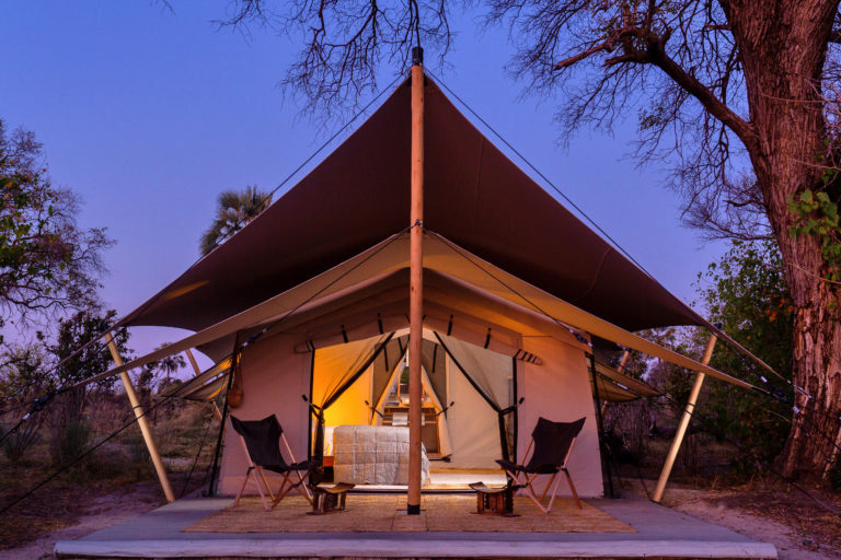 The guest tents at Camp Maru offer an authentic but comfortable safari experience