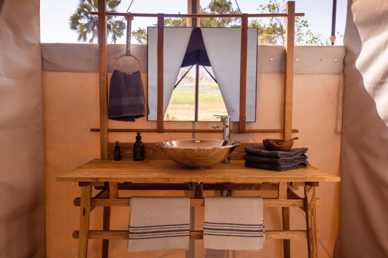 Elegant bathrooms at Camp Maru