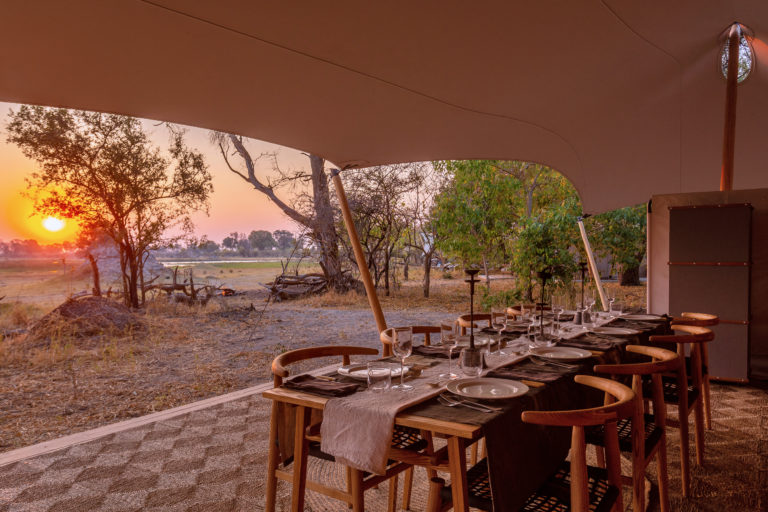 Dining with a view at Camp Maru
