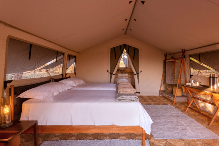The double room interior view at Camp Maru