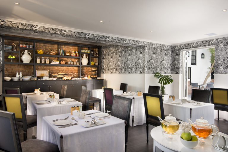 Cape Cadogan's indoor breakfast rooms where delicious breakfasts are served