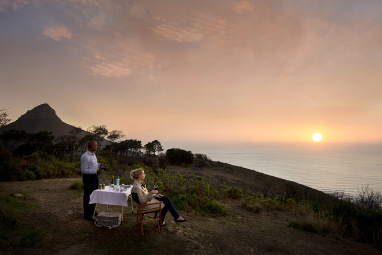 Spectacular sundowners from Lion's Head