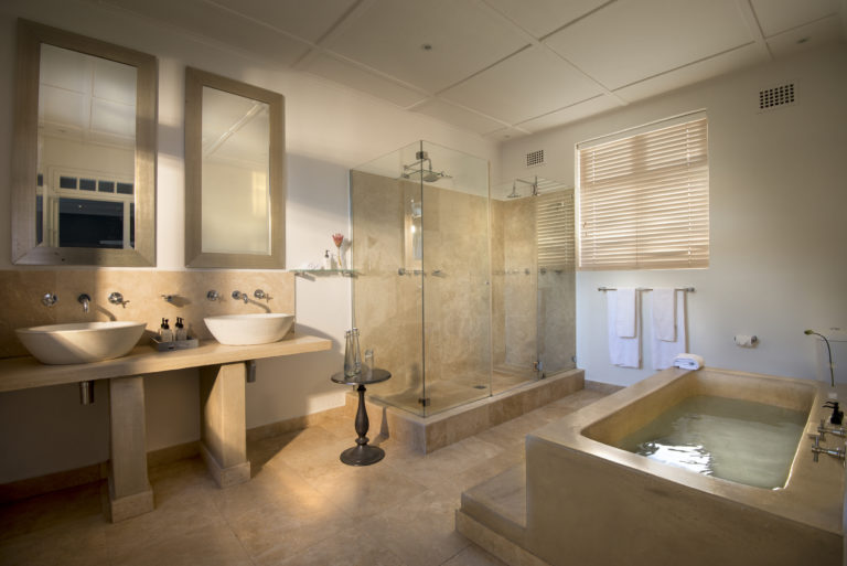 The bathrooms in the Cape Cadogan luxury rooms