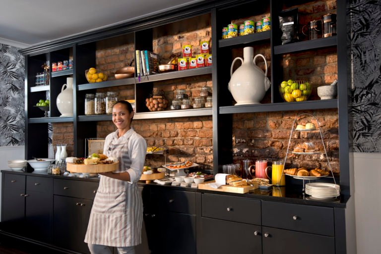 The pantry with goodies at Cape Cadogan
