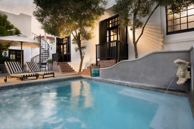 Cape Cadogan's swimming pool is perfect for a quick dip