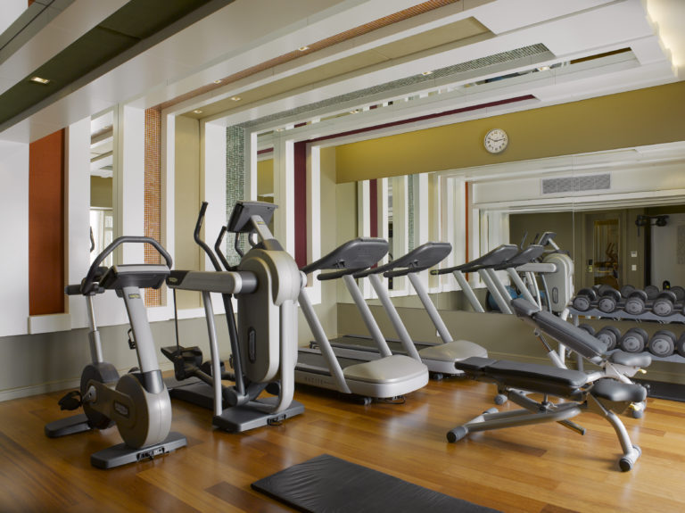 The gym at the Cape Grace