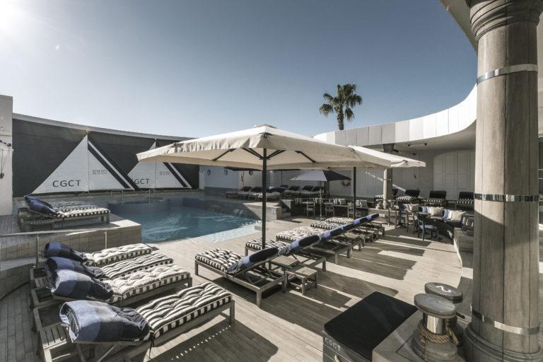 Cape Grace's swimming pool area has plenty of loungers
