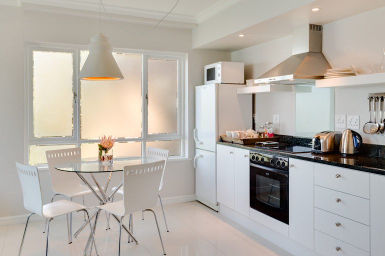 Cape View Clifton two bedroomed apartment kitchen delight