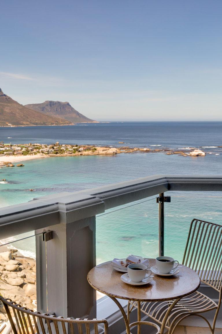 Cape View Clifton coffee break on balcony