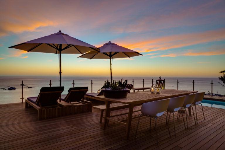 Cape View Clifton Deck view Sundown over horizon