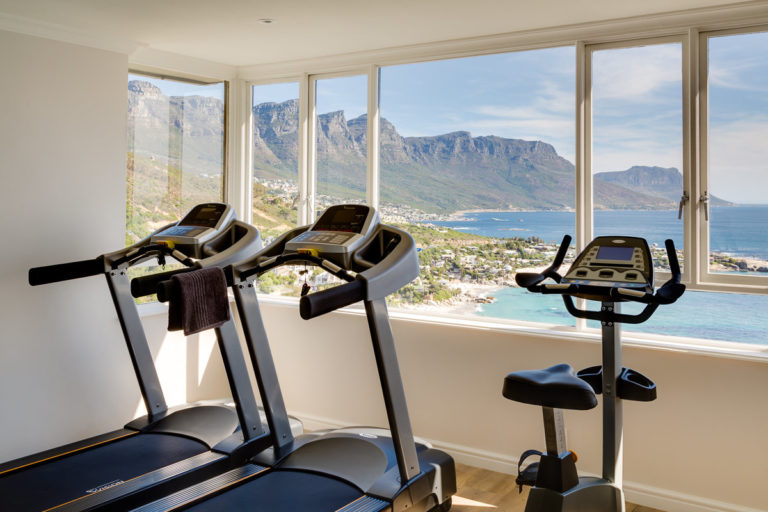 A gym with a view at Cape View Clifton