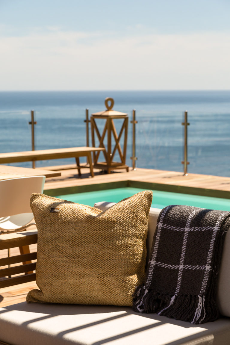 Cape View Clifton outside balcony couch decor