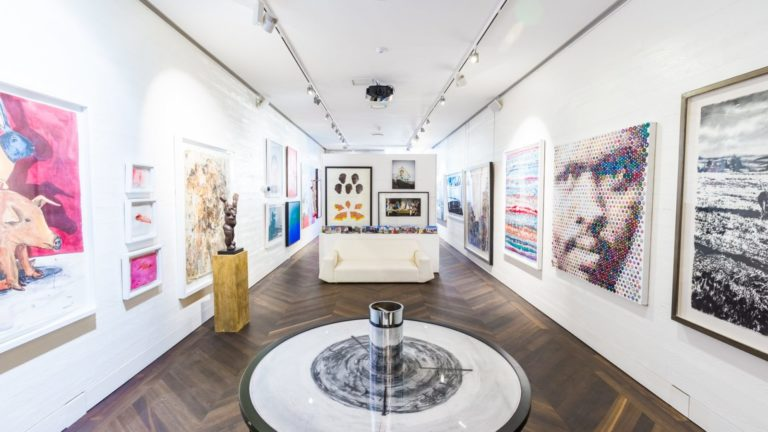 The art gallery at Ellerman features modern and traditional SA art