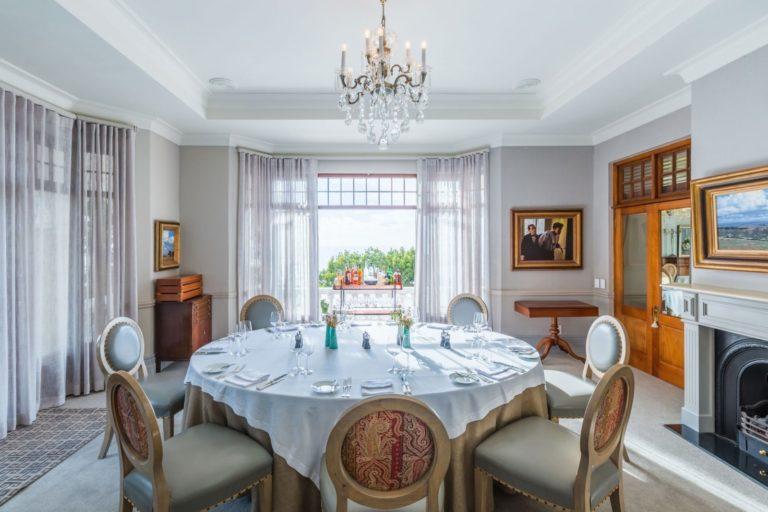 Elegant dining rooms at Ellerman House
