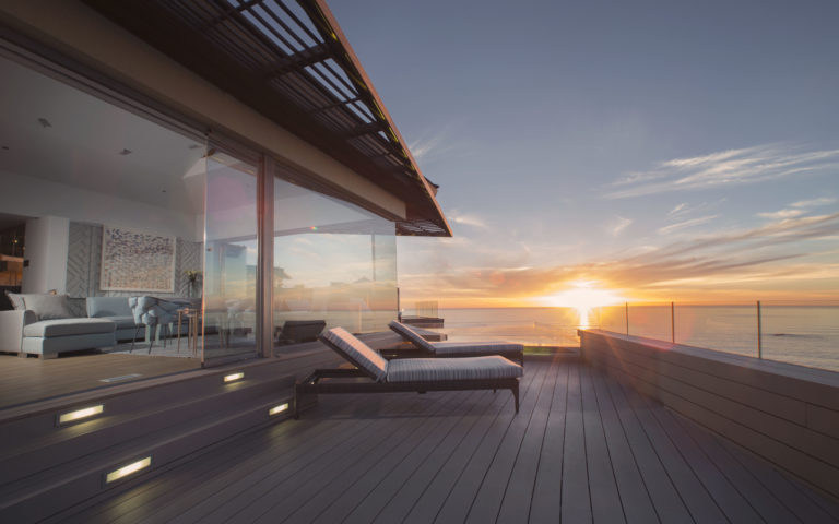 The private deck of the Ellerman villas