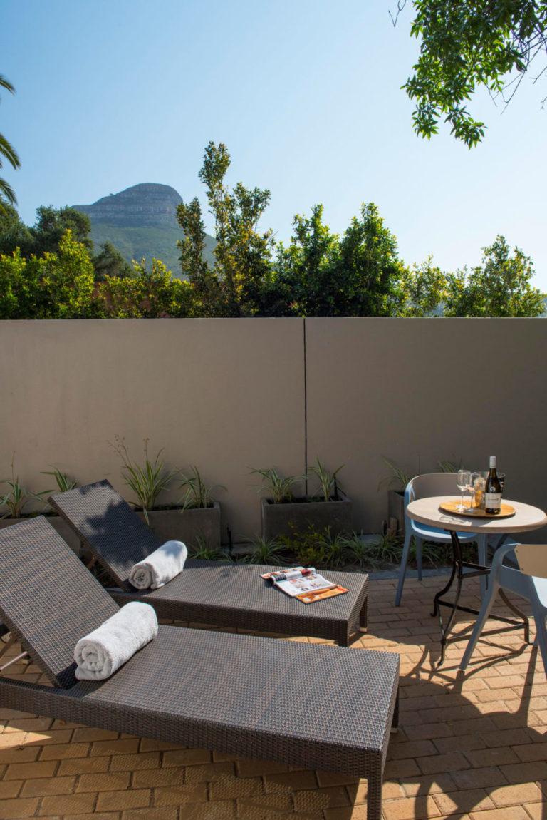 Four Rosmead sun lounger luxury refreshment