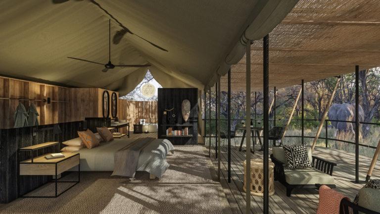 The rooms are luxurious and spacious at Kiri Camp