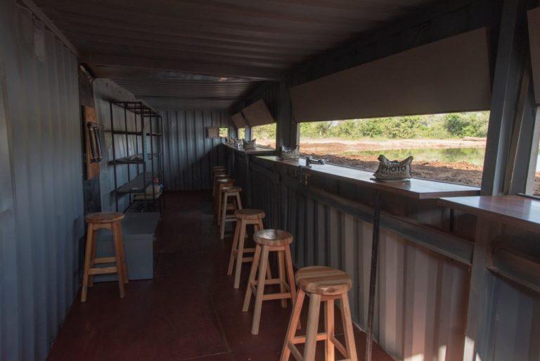 Inside the Photo hide at Mashatu