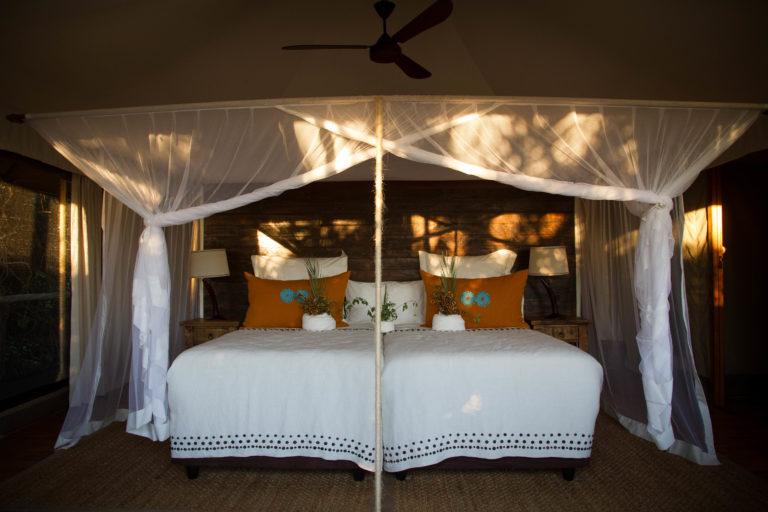Bedroom layout at Mopiri Camp