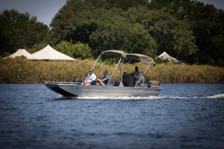 Boating activities are popular with Mopiri Camp Visitors