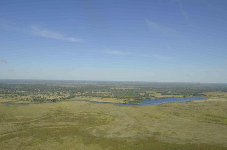 Mopiri Camp lagoon as seen from a distance