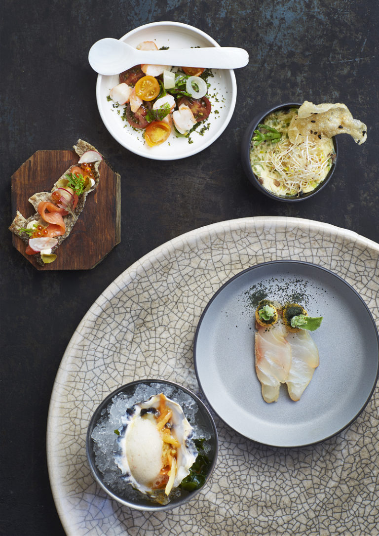 Chefs Table seafood offering at the Mount Nelson Hotel