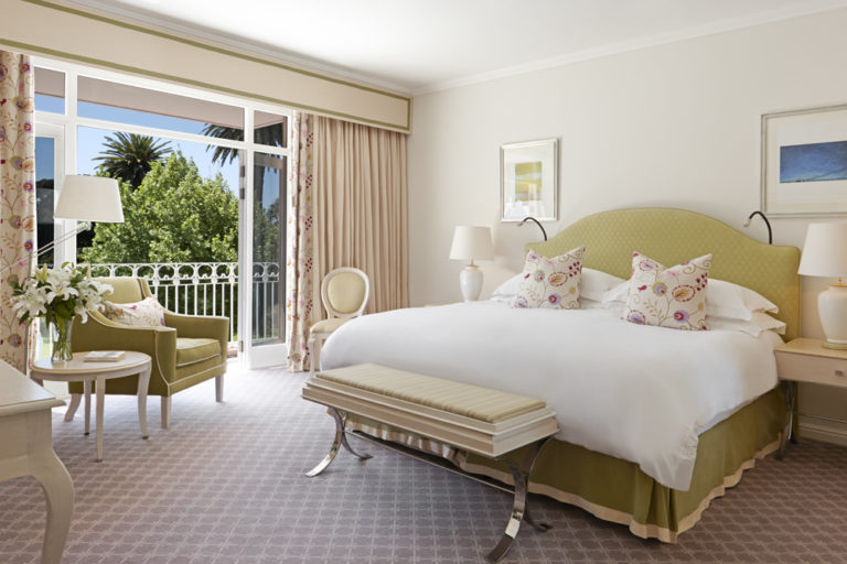 The deluxe room at Mount Nelson is an oasis of tranquility