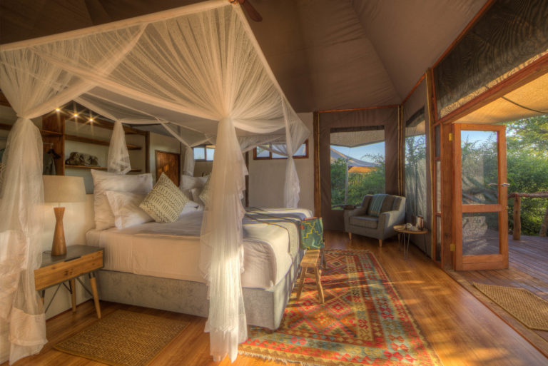 The spacious family room available at Nokonyana camp