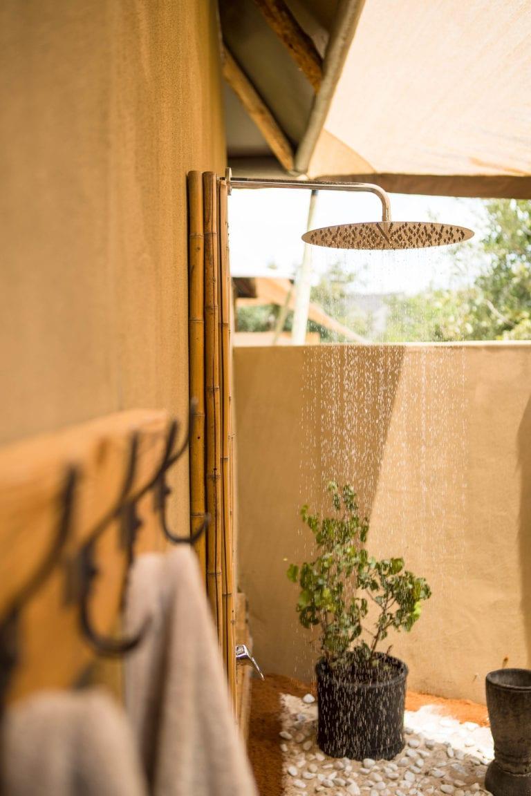 Guest shower decor detail at Nokonyana