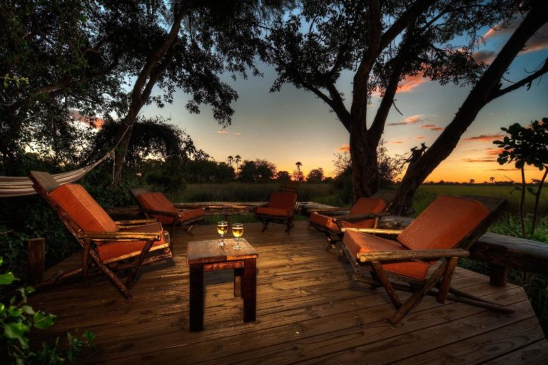 Sundowners in the outside lounge area at Oddballs